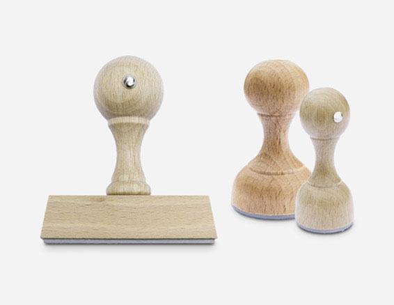 Timbri in legno da personalizzare