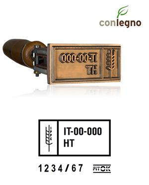 Timbro a Fuoco FITOK con numerazione - 42x65mm